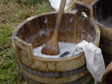 Camp Laundry in a Bucket at a Reenactment on the Yorktown Battlefield, Virginia Photographic Print