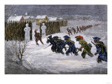 French and Indian Attack on Schenectady, New York during the Winter of 1689-1690 Giclee Print