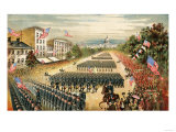 Grand Review of Armies at End of Civil War, Pennsylvania Avenue, Washington D.C., c.1865 Premium Giclee Print