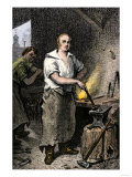 Pat Lyon, Blacksmith, at the Forge Giclee Print