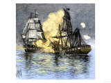 USS Frigate Chesapeake Engaging the British Ship Shannon, War of 1812 Premium Giclee Print