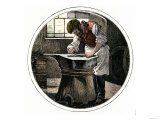 Blacksmith Working at an Anvil Giclee Print