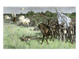 Rallying Confederate Troops under Bee, First Battle of Bull Run Battle, c.1861 Impression giclée