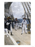 Impressment of an American Sailor by a British Naval Officer Giclee Print