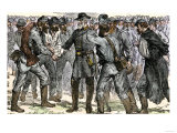 General Robert E. Lee's Farewell to His Soldiers after the Surrender at Appomattox, c.1865 Reproduction procédé giclée