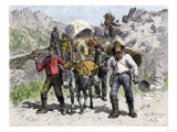 Prospectors Looking for New Diggings during the Gold Rush, c.1850 Giclee Print
