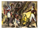 British Troops Burning the Library of Congress in 1814, during the War of 1812 Giclee Print
