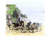 Minutemen Roused by Paul Revere to Do Battle in Lexington, April 19, 1775 Giclee Print