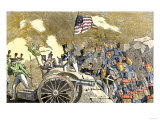 Mexican Artillery at Monterey Captured by General Zachary Taylor's Troops, U.S.-Mexican War, c.1846 Giclee Print
