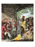 British General Henry Bouquet's Council with the Native Americans during Pontiac's War, c.1763 Giclee Print
