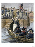General George Washington Leaving New York City after Celebrating the British Retreat, c.1783 Giclee Print