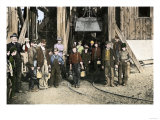 Coal Miners Emerging from the Shaft after Their Nine Hours of Toil Are Ended Giclee Print