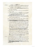 Draft of the Declaration of Independence in Jefferson's Handwriting, Page 3 Giclee Print