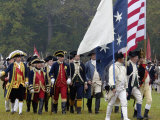 Rochambeau and Other Officers Take the Field in a Reenactment of the Surrender at Yorktown Photographic Print