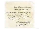 Benedict Arnold's Signature on a Pass Given to British Agent Major John Andre, c.1780 Giclee Print