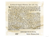 Notice to the Militia to Be Ready to Act at a Minute's Warning, Massachusetts, June 17, 1775 Giclee Print