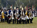 Hessian Troops in the British Army Take the Field in a Reenactment of the Surrender at Yorktown Photographic Print
