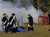 Artillery Demonstration, Revolutionary War Reenactment at Yorktown Battlefield, Virginia Photographic Print