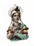 Dona Marina, Native Interpreter for Hernando Cortes in the Spanish Conquest of Aztec Mexico Giclee Print