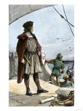 Columbus Watching for Land from the Deck of the Caravel Santa Maria, c.1492 Giclee Print