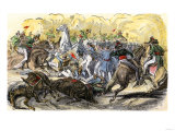 Charge of Mexican Lancers against U.S. Forces at Buena Vista during the U.S.-Mexican War, c.1847 Giclee Print