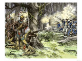 General Harmar Defeated by Miami Tribe Warriors in the Old Northwest Territory, c.1790 Giclee Print