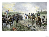 Napoleon and the Old Guard Before the Battle of Waterloo, c.1815 Giclee Print