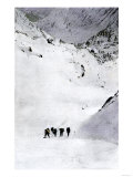 Prospectors Nearing Summit of the Chilkoot Pass during the Alaska Gold Rush, c.1897 Giclee Print