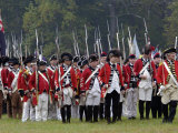 British Army Marches Onto the Field in a Reenactment of the Surrender at Yorktown Battlefield Photographic Print