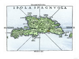 Map of Hispaniola in 1534, from Cartography of Peter Martyr and Oviedo Giclee Print