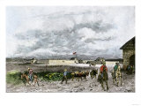 Sutter's Fort in the 1840S When It Became the Center of the California Gold Rush Giclee Print
