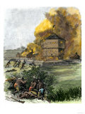 Attack on Fort King by Native Americans under Osceola during the Seminole Wars, c.1835 Giclee Print