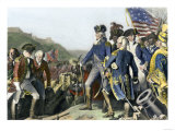 Surrender of British Army to Washington and Rochambeau at Yorktown, c.1781 Lámina giclée