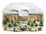 Boott Cotton Mills on the Merrimac River in Lowell, Massachusetts, c.1850 Giclee Print