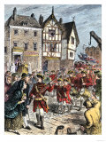 British Troops Entering Boston to Enforce Taxation and Other Colonial Legislation Giclee Print