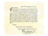 Letter from Boston's Committee of Correspondence Urging Supplies Be Withheld from British, c.1774 Giclee Print