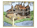 Champlain's Quebec Fort, c.1613 Giclee Print