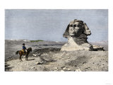 Napoleon and the Sphinx at the Time of the French Invasion of Egypt, c.1798 Giclée-tryk