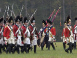 British Army Takes the Field in a Reenactment of the Surrender at Yorktown Battlefield, Virginia Photographic Print