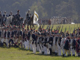 Continental Army Reenactors March to the British Surrender at Yorktown Battlefield, Virginia Photographic Print
