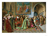 Columbus Brought in Chains Before Ferdinand and Isabella by Bobadilla, c.1500 Giclee Print