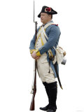 French Soldier at a Reenactment on the Yorktown Battlefield, Virginia Photographic Print
