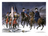 Wounded Hessian Colonel Rahl Surrenders Trenton to George Washington, December 1776 Giclee Print