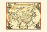 Nautical Map of Asia Prints