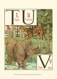 Noah's Alphabet VI Prints by Walter Crane