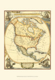 Nautical Map of North America Prints