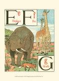 Noah's Alphabet II Prints by Walter Crane