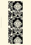 Damask in Black and Cream II Posters