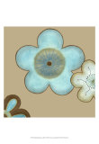 Pop Blossoms in Blue II Prints by Erica J. Vess