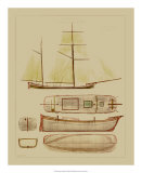 Antique Ship Plan IV Giclee Print